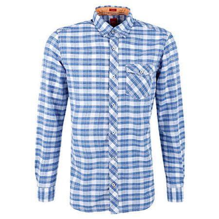 868ab0f170d s.Oliver Pánská modro-bílá kostkovaná košile Regular Fit (Velikost ...
