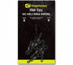 RIDGEMONKEY Rychlovýměnný bratlík s kroužkem Quick Change Heli Ring Swivel