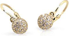 Cutie Jewellery Dětské náušnice C2150-10-X-1 zlato žluté 585/1000