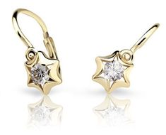 Cutie Jewellery Dětské náušnice C2159-10 zlato žluté 585/1000