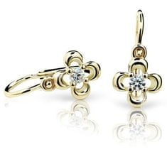 Cutie Jewellery Dětské náušnice C2013-10 zlato žluté 585/1000