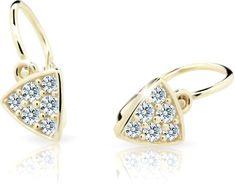 Cutie Jewellery Dětské náušnice C2207-10-X-1 zlato žluté 585/1000