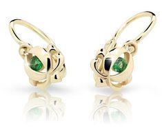Cutie Jewellery Dětské náušnice C2218-10 zlato žluté 585/1000