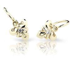 Cutie Jewellery Dětské náušnice C2214-10 zlato žluté 585/1000