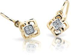 Cutie Jewellery Dětské náušnice C2240-10-X-1 zlato bílé 585/1000