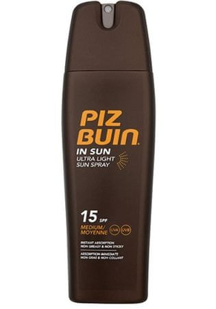 PizBuin Sprej na opaľovanie SPF 15 ( In Sun Ultra Light Sun Spray) 200 ml