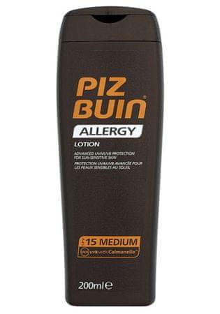 PizBuin Kremu do opalania SPF 15 (alergię płynem), 200 ml