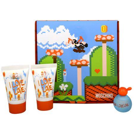 Moschino Cheap & Chic I Love Love -  woda toaletowa 4,9 ml + mleczko do ciała 25 ml + żel pod prysznic 25 ml
