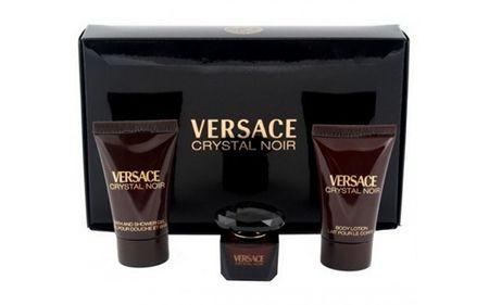 Versace Kryształ Noir - woda toaletowa 5 ml + balsam do ciała 25 ml + żel pod prysznic 25 ml
