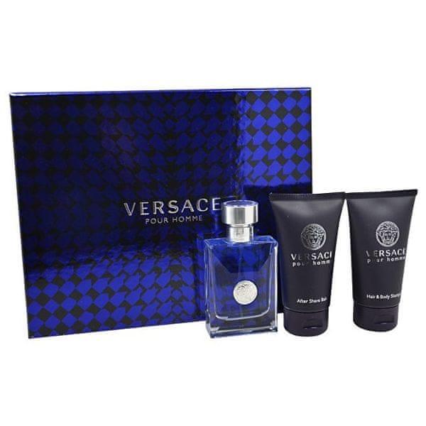 Versace Pour Homme - EDT 50 ml + sprchový gel 50 ml + balzám po holení 50 ml pro muže