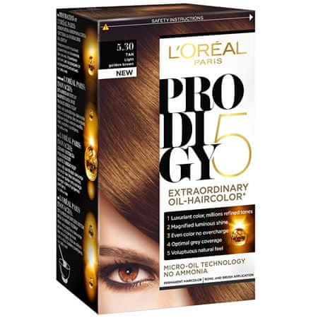 L'Oréal Olejová barva na vlasy Prodigy 5 (Odstín 7.40 blond měděná)