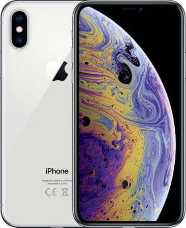 Apple iPhone Xs Max, 64GB, Stříbrný