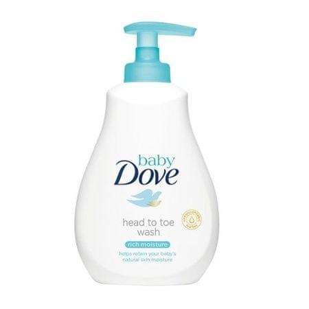 Dove Umývací gél pre deti na telo i vlásky Baby (Head To Toe Wash Rich Moisture ) (Objem 200 ml)