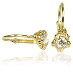 Cutie Jewellery Dětské náušnice C2158-10-1 zlato žluté 585/1000