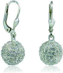 MHM Náušnice Kulička M4 Crystal 3232 stříbro 925/1000