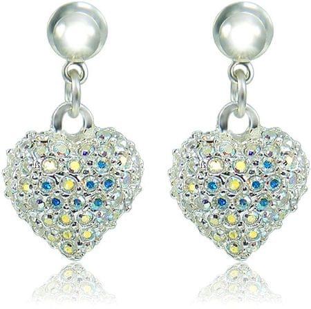 MHM Kolczyki Serca M4 Kryształ AB 3297