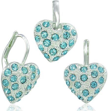 MHM Ustaw Aquamarine Serce biżuteria 34115 srebro 925/1000