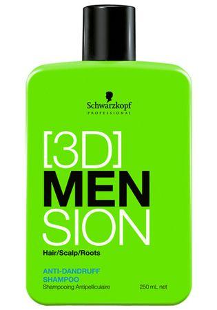 Schwarzkopf Prof. Šampon proti lupům pro muže 3D (Anti-Dandruff Shampoo) (Objem 1000 ml)