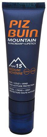 """PizBuin SPF 15 fényvédő és védő ajakbalzsam SPF 30 2 1 (Mountain Combi """"2 az 1-ben"""" és a rúzs Sun Cream) 20"""