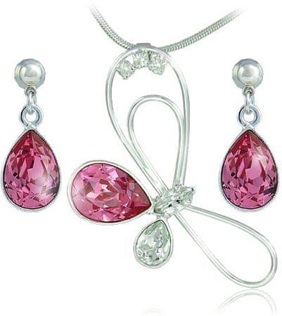 MHM Zestaw biżuterii Debi Rose 34133 srebro 925/1000