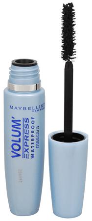 Maybelline Wodoodporny tusz do chwilowej objętości Volum Express, wodoszczelny 8,5 ml (cień Black)