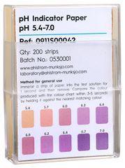 Indikátorové pH papírky (5,4-7,0) 200 ks