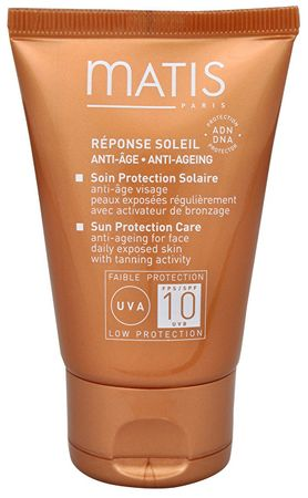 Matis Paris Protivrásková péče na opalování obličeje SPF 10 (Sun Protection Care Anti-Ageing Cream for Face) 50
