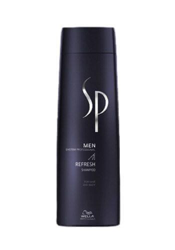 Wella Professional Osvěžující šampon na vlasy a tělo pro muže SP Men (Refresh Shampoo) 250 ml