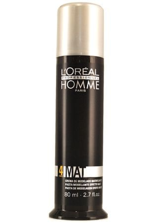 Loreal Professionnel Matující pasta na vlasy pro muže Homme Mat (Matte Sculpting Pomade) 80 ml