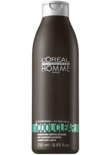Loreal Professionnel Šampon proti lupům pro muže Cool Clear (Anti-Dandruff Shampoo) (Objem 250 ml)