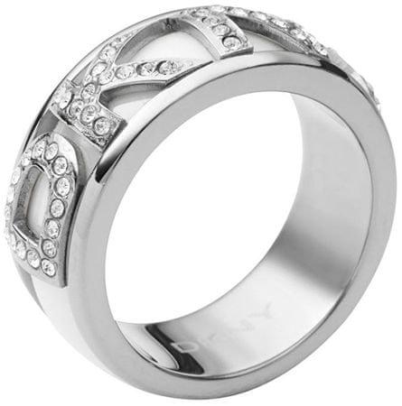 DKNY pierścień kryształ z napisem NJ1841040 (obwód 50 mm)