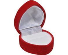 Jan KOS Szív alakú gyűrű ajándékdoboz F-222/A7