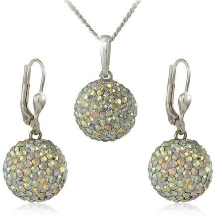 MHM Zestaw biżuterii M5 Piłki Kryształ AB 34159 srebro 925/1000