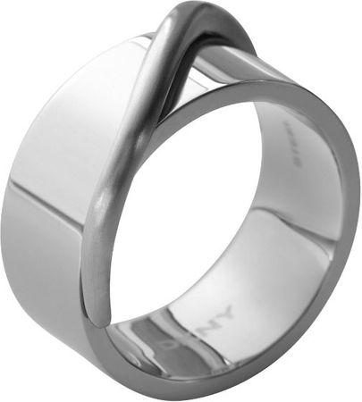 DKNY Masívny oceľový prsteň NJ1860040 (Obvod 59 mm)
