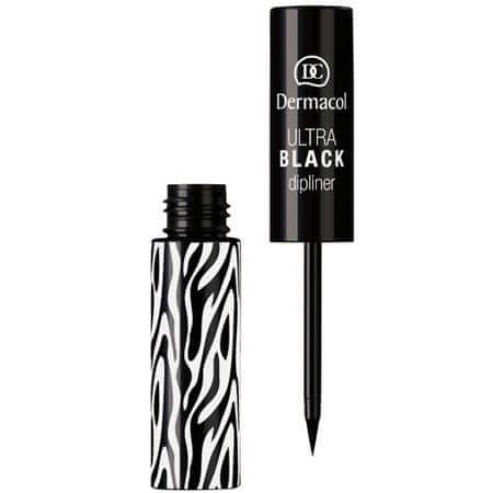 Dermacol Tekuté oční linky (Ultra Black Dipliner) 2,8 ml (Odstín Black)