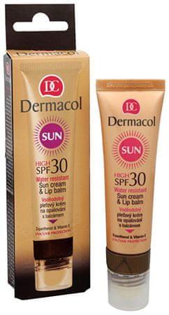 Dermacol Vízálló napvédő krém ajakbalzsammal SPF 30 30 ml + 3,2 g