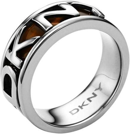 DKNY Ocelový prsten s nápisem NJ1892040 (Obvod 59 mm)