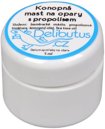 Delibutus Konopná mast na opary s propolisem (Objem 4 ml)