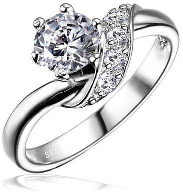 Silvego Stříbrný zásnubní prsten SHZR234 (Obvod 49 mm) stříbro 925/1000
