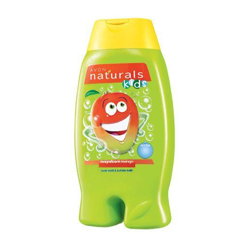 Avon Jemný sprchový gel a pěna do koupele 2 v 1 s mangem Naturals Kids (Magnificent Mango Body Wa