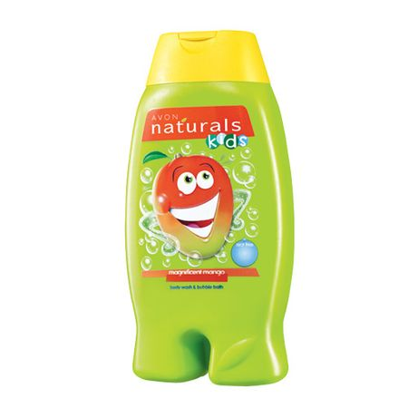 Avon Jemný sprchový gel a pěna do koupele 2 v 1 s mangem Naturals Kids (Magnificent Mango Body Wash and B