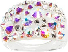 Troli Pierścień Bubble Crystal AB