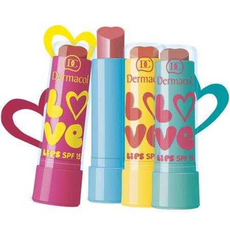 Dermacol Love Lips SPF 15 hidratálóajakbalzsam 3,5 ml (árnyék 07 perleťově růžová, vůně Bavlníkový květ)