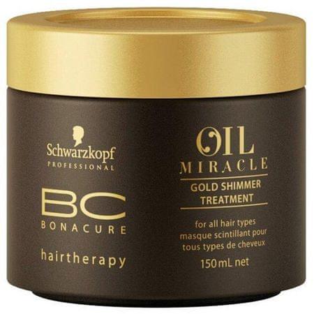 Schwarzkopf Prof. Oil Miracle tápláló hajpakolás(Gold Shimmer Treatment) 150 ml