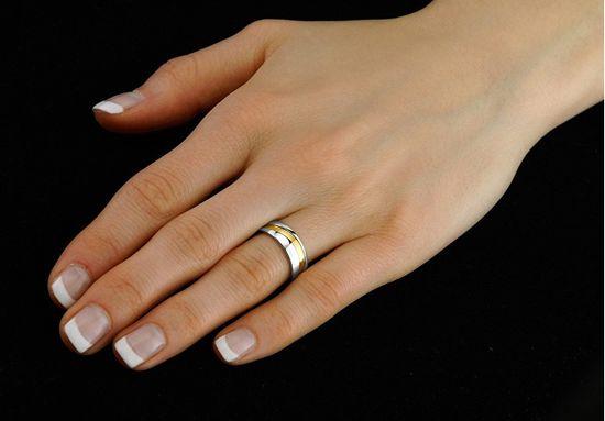 Silvego Zaręczynowy pierścień ze stali dla mężczyzn i kobiet MARIAGE RRC2050-M