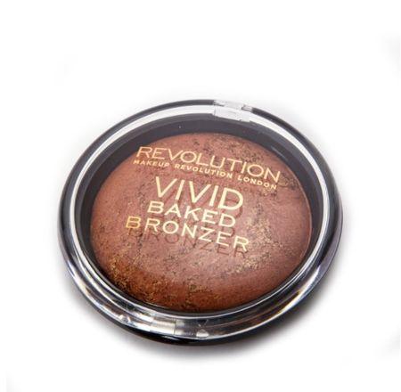 Makeup Revolution Zapečený bronzer (London Vivid Baked Bronzer) 13 g (Odstín Ready To Go)