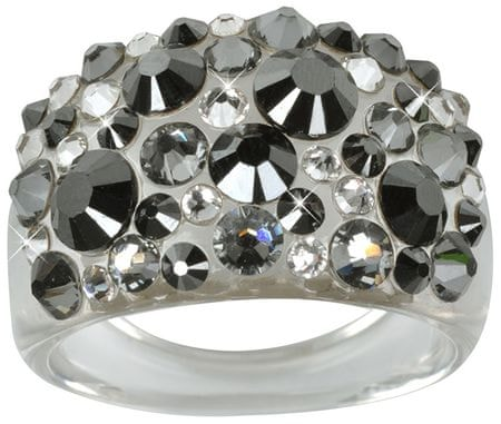 Troli Pierścień Bubble Hematyt (obwód 50 mm)