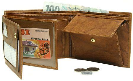 Lagen Pánská černá kožená peněženka Black V-3-1  632419d8bc