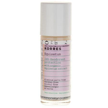 Korres 24 órás hatást biztosító golyós dezodor zsurló kivonattal érzékeny bőrre 30 ml