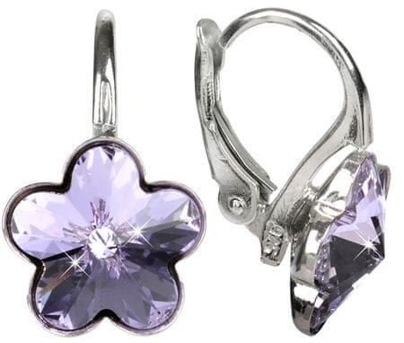 Troli Flower Violet kislány ezüst fülbevaló ezüst 925/1000